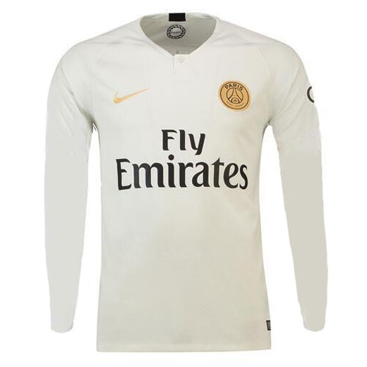 PSG Long Sleeve Soccer Jerseys 2018-19 Away Football Shirts